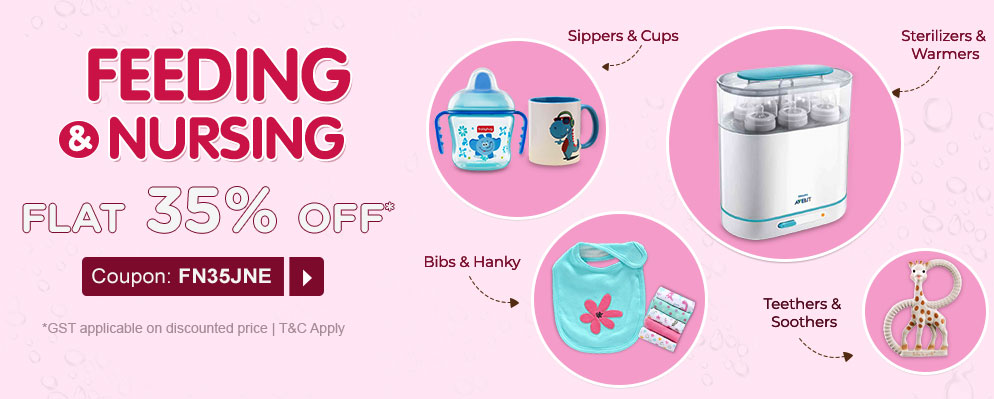 Coupons and Offers for FirstCry - Get Flat 35% Discount on Feeding and Nursing Products