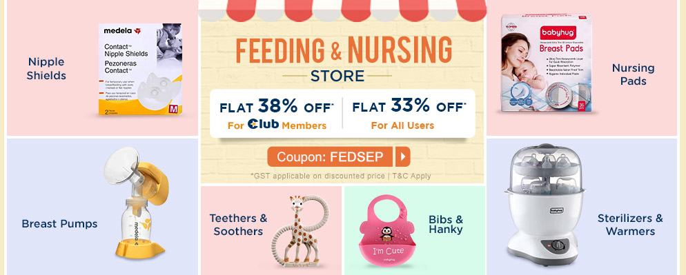firstcry.com - Avail Flat 33% Off on Feeding and Nursing Products