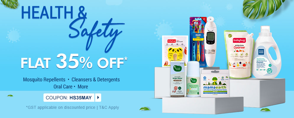 firstcry - Get 35% Off on Health and Safety Range