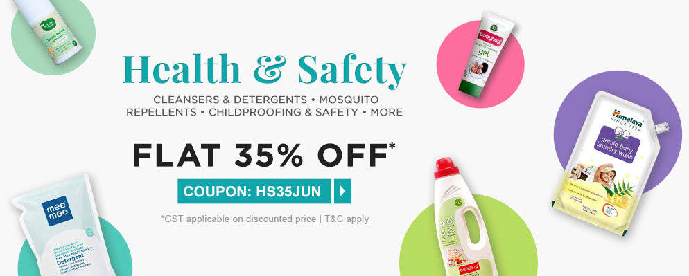 firstcry.com - Get Flat 35% Discount on Health and Safety Range