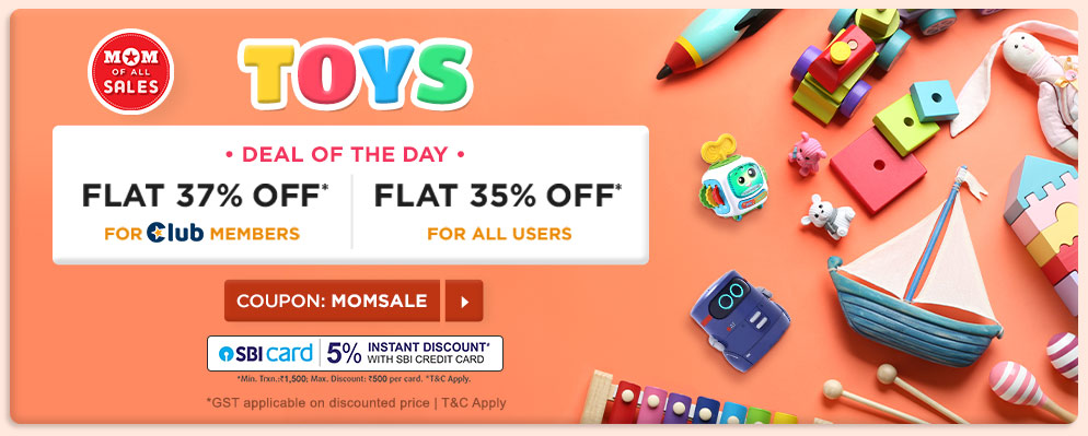 Coupons and Offers for FirstCry - 35% Off on Selected Categories