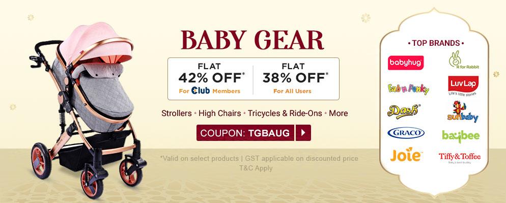 firstcry.com - 38% off on Top Gear Brands