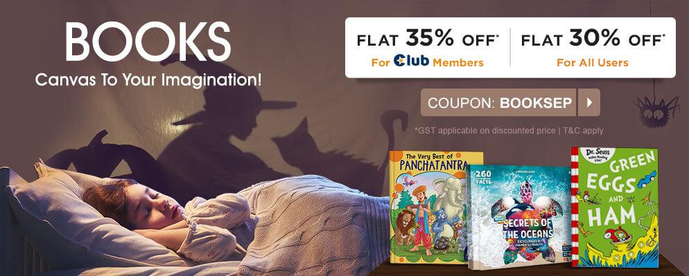 firstcry.com - Flat 30% OFF on Books Entire Range