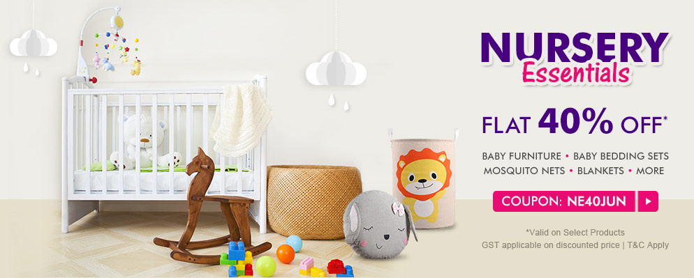 firstcry.com - Get Flat 40% discount on Select Range of Nursery Essentials