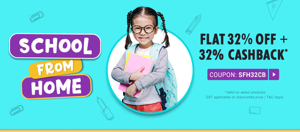 firstcry - Flat 32% Discount + Extra 32% Cash Back on School Supplies, Books and CDs