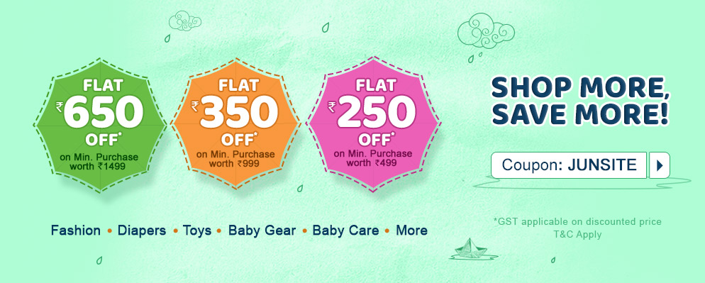 Coupons and Offers for FirstCry - Get Up To ₹650 Discount on Kids Fashion