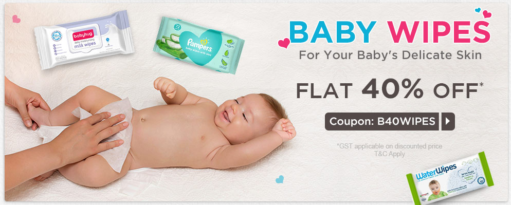 firstcry.com - Get Flat 40% OFF on Select Baby Wipes