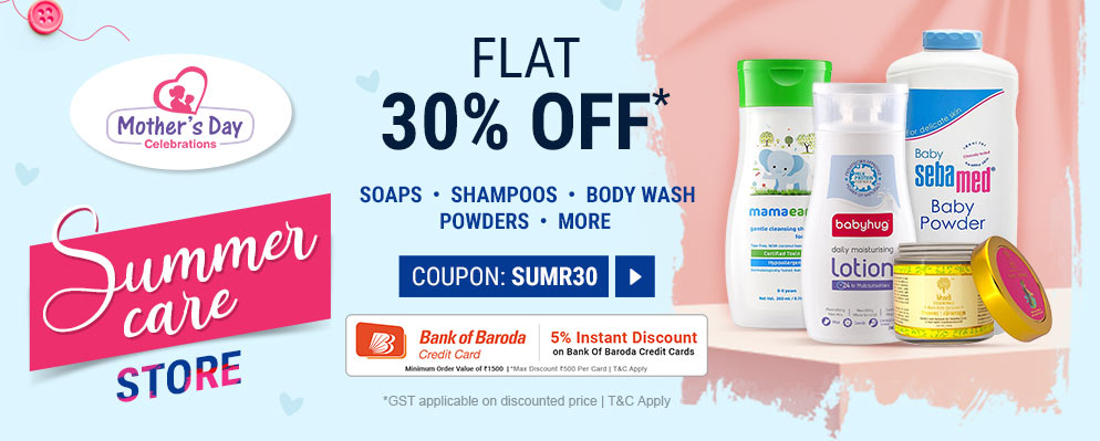 firstcry.com - 30% Off on Summer Care Products