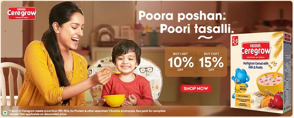 firstcry.com - Buy 2 Get 15% Discount on Nestle Ceregrow