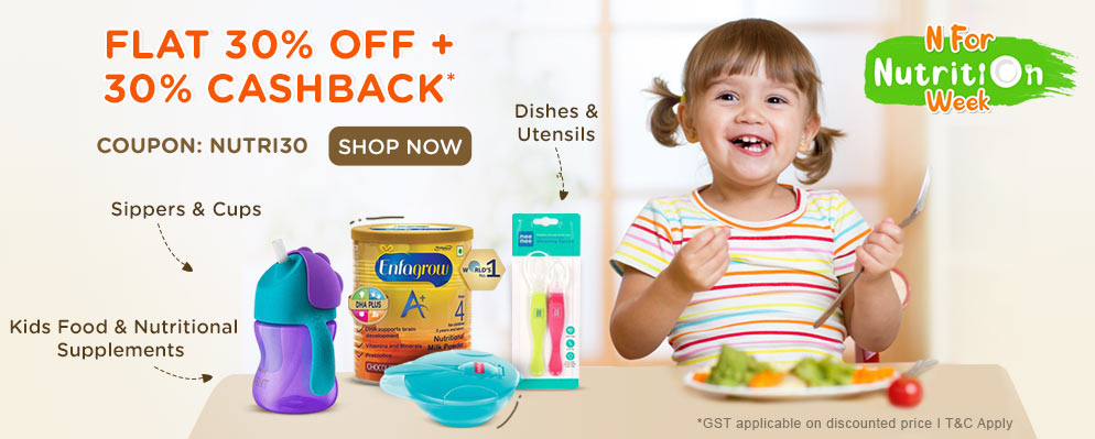 firstcry.com - Get Flat 30% off + Additional 30% cash back on Feeding & Nursing