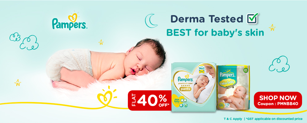 Coupons and Offers for FirstCry - Get 40% off on Pampers Newborn