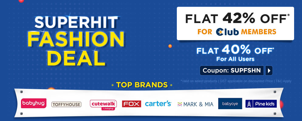 firstcry.com - Get Flat 40% Discount on Select Fashion Brands