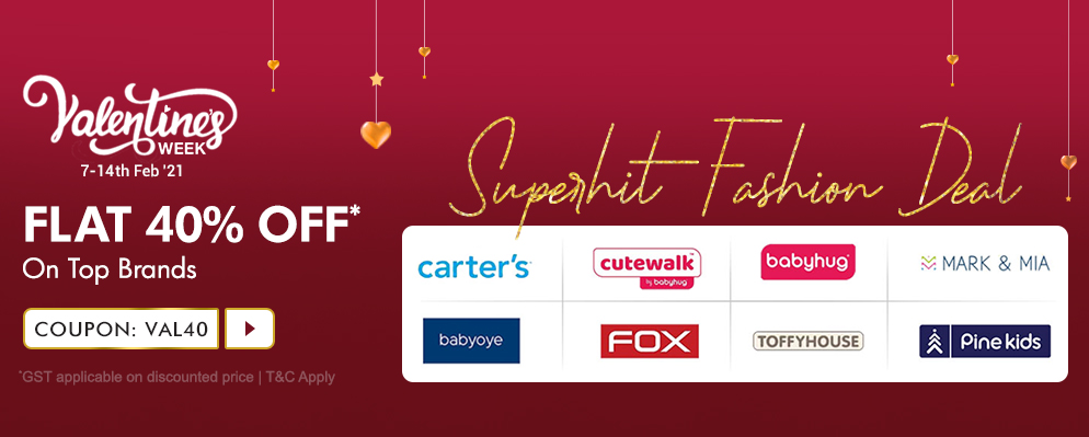 firstcry.com - Flat 40% Off on Select Top Fashion Brands