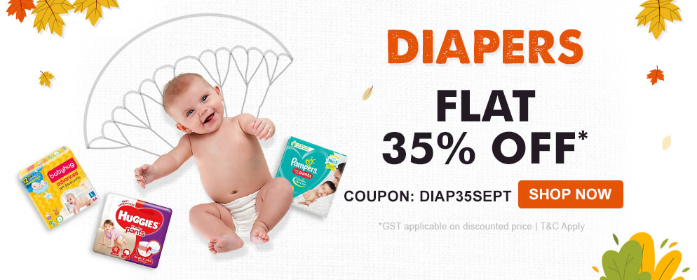 Firstcry Offers & Discount Sale - Get Flat 35% discount on Diapers