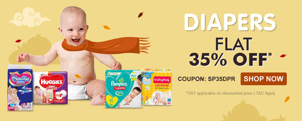 firstcry.com - Get Flat 35% off on Baby Diapers