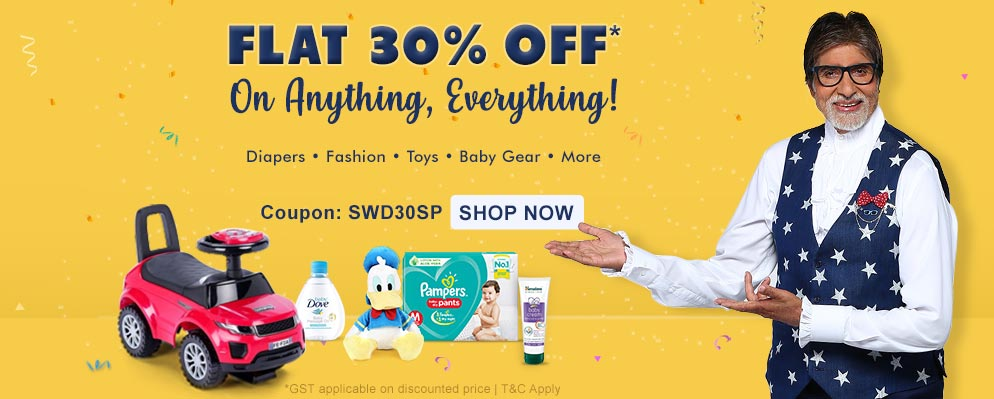 Firstcry Offers & Discount Sale - Flat 30% discount on all products