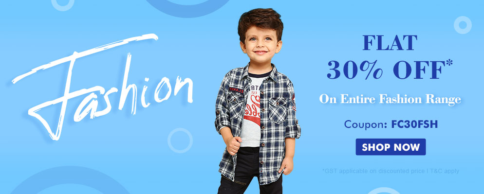 firstcry.com - Get Flat 30% off on Kids Fashion Range