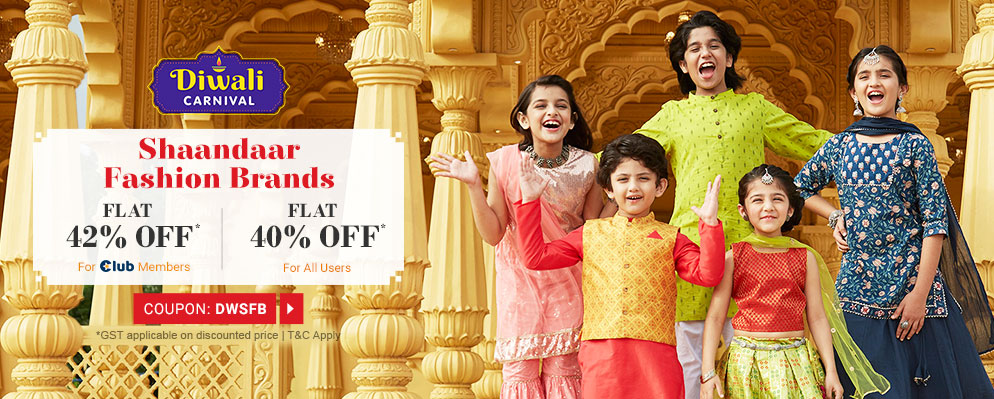 Coupons and Offers for FirstCry - Avail 40% Off on Shaandaar Fashion Brands
