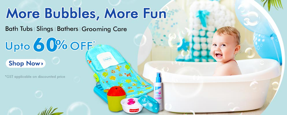 firstcry.com - Up To 60% OFF on Baby Bath Tubs and Accessories