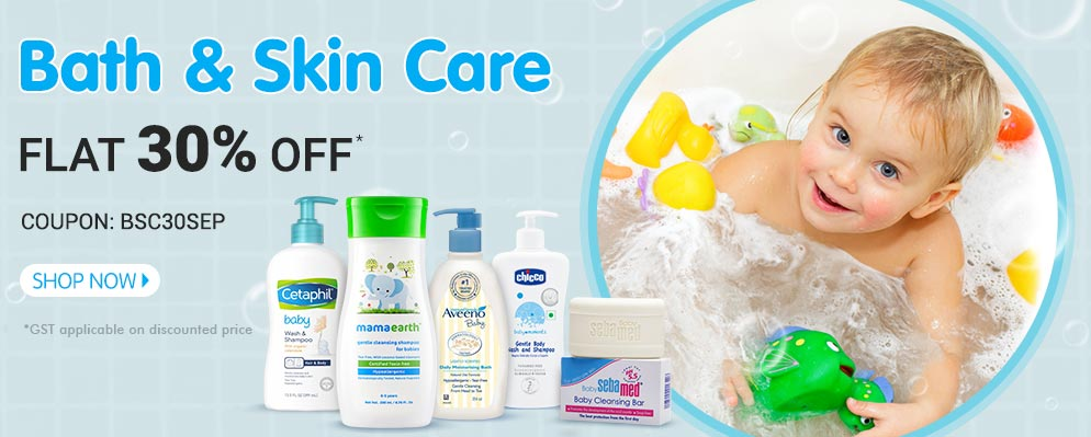 Coupons and Offers for FirstCry - Get Flat 30% OFF on Entire Bath & Skin Care