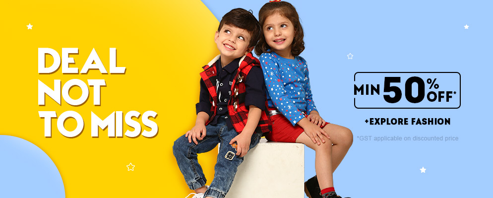 firstcry.com - Get Flat 50% Discount on Kids Fashion