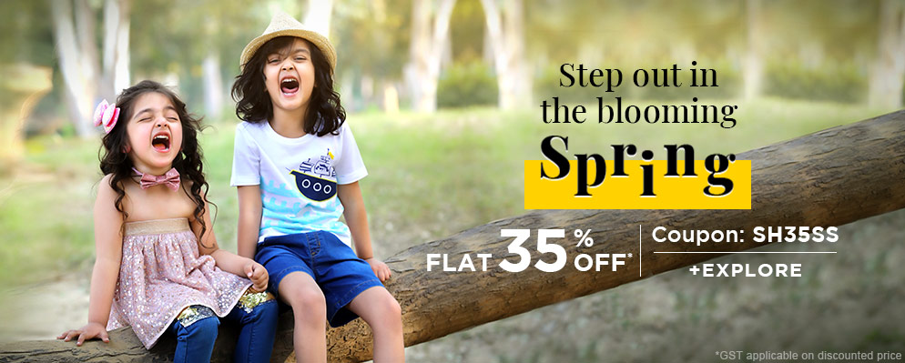 - Get Flat 35% OFF on Spring Kids Fashion Collection