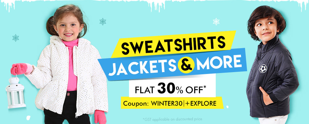 Firstcry Offers & Discount Sale - Flat 30% Discount on Kids Selected Winter Wear