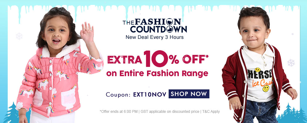 FirstCry - Avail Extra 10% off on Kids Fashion Range