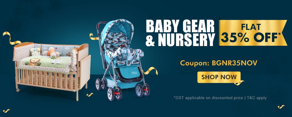 Firstcry Offers & Discount Sale - Flat 35% Discount on Baby Gear and Nursery