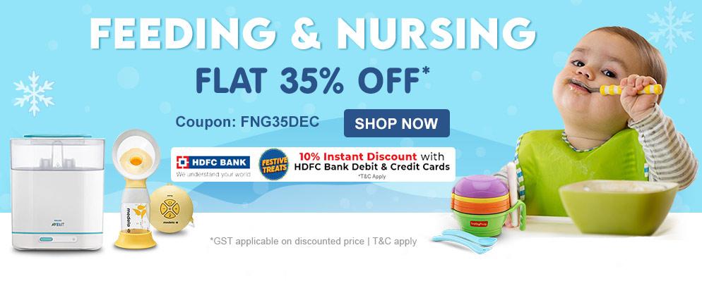 Firstcry - Flat 35% off on Baby Feeding and Nursing