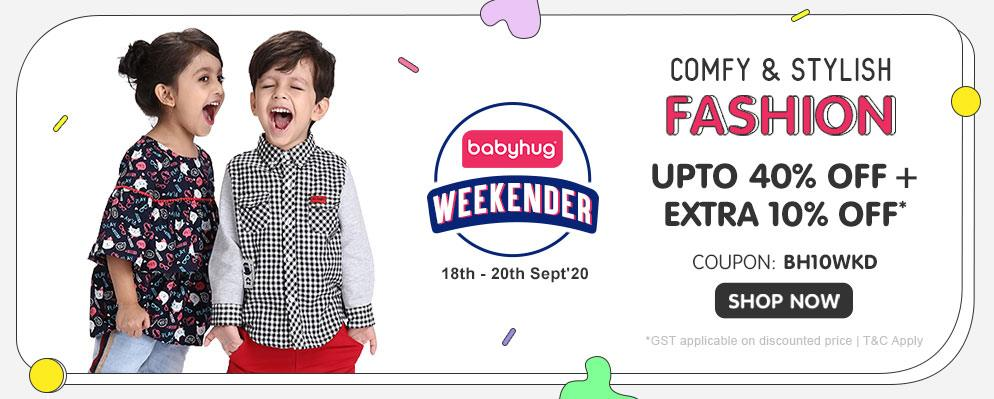 firstcry.com - Avail Up to 40% OFF + Extra 10% OFF on Babyhug Fashion