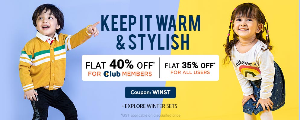 Coupons and Offers for FirstCry - Get 35% OFF on Select Fashion