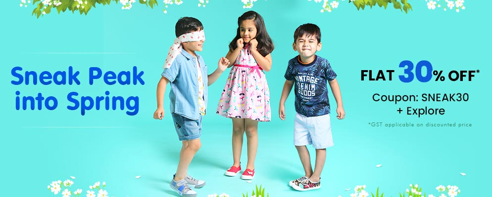 firstcry.com - Flat 30% discount on Selected Fashion