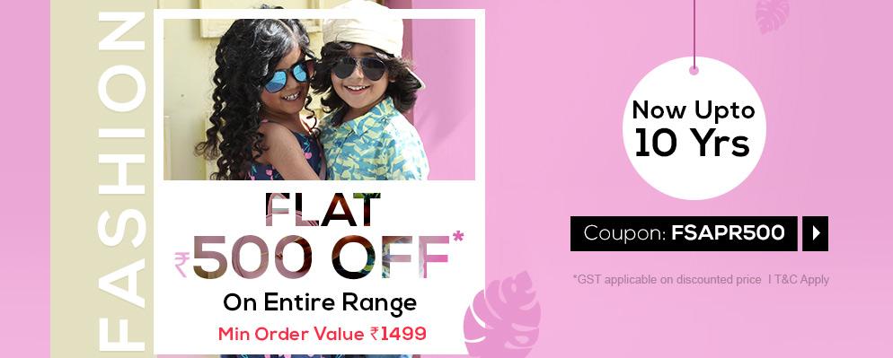 firstcry.com - ₹500 off on Kids Fashion