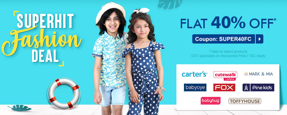 firstcry.com - Get 40% off on Selected Top Fashion Brands