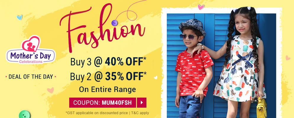 firstcry.com - Buy 3 Get 40% off on Entire Fashion Range