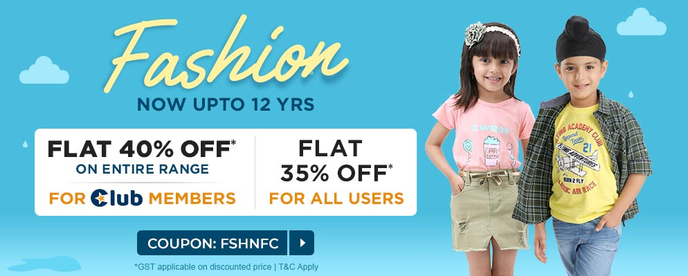 firstcry.com - 35% discount on Fashion