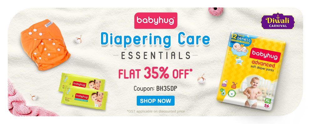 firstcry.com - 35% discount on Babyhug Diaper and Diapering Essentials