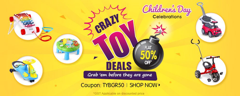 FirstCry.com - Get Flat 50% Off on Select Baby Gear,Toys Range