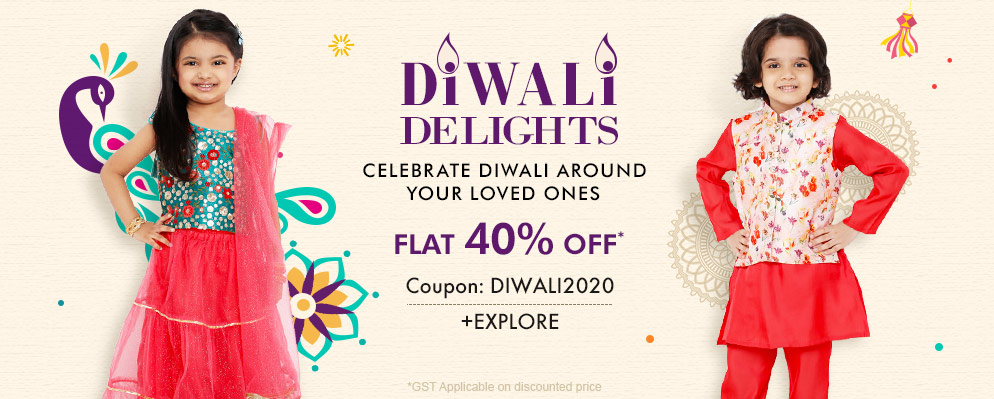 FirstCry.com - 40% discount on Selected Diwali Fashion