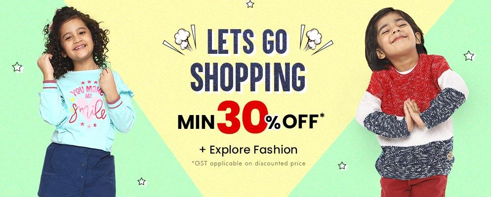 firstcry.com - 30% Discount on Kids Fashion
