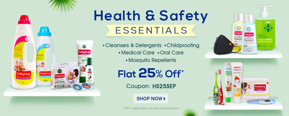 firstcry.com - Avail 25% OFF on Health & Safety Essentialss