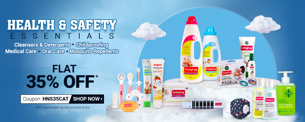 Firstcry - Get Flat 35% off on Health and Safety Essentials
