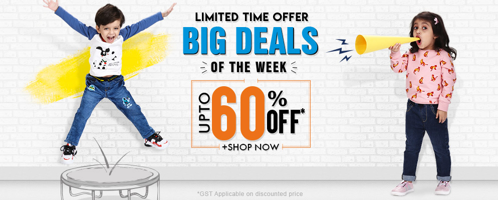 firstcry.com - Big Deals Of The Weel – Get Upto 60% Discount on Kids Fashion
