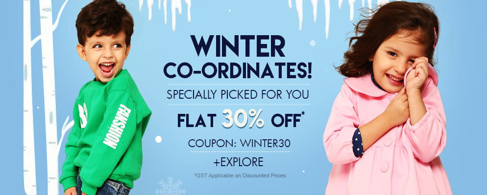 Firstcry Offers & Discount Sale - 30% Discount on Kids Selected Winter Fashion