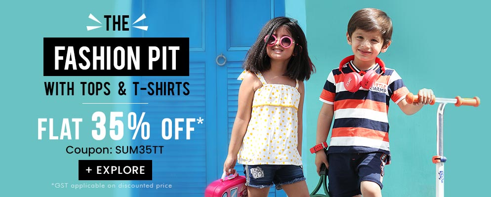 firstcry.com - Flat 35% discount on Kids Tops and T-shirts