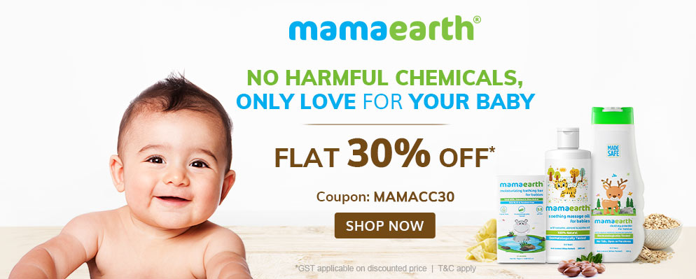Firstcry Offers & Discount Sale - Avail Flat 30% Off on Selected Mama Earth Products