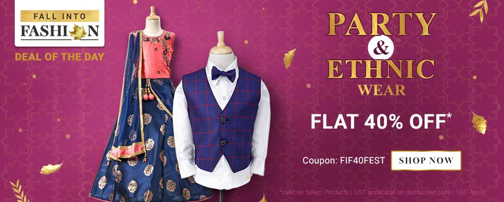 firstcry.com - Avail Flat 40% off on Select Fashion Range