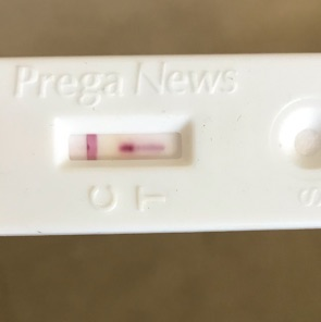 pregnancy test faint line after 1 hour