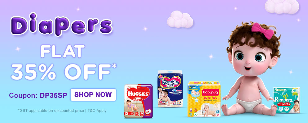 firstcry.com - Avail 35% OFF on Diapers